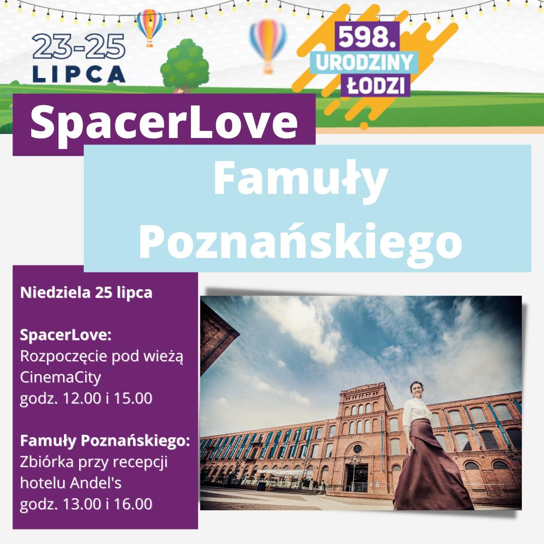 Plakat zapraszającyna obchody 598 urodzin Łodzi