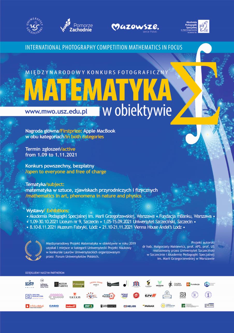 Plakat konkursu Matematyka w obiektywie